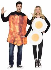Adult Couples Bacon & Eggs Egg Funny Humorous Light Weight Food Costume - Fast -