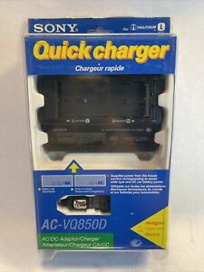 Sony AC-VQ850D AC/DC Power Adapter Quick Charger L and M Series Lithium Battery