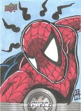 Agents Of S.H.I.E.L.D. Compendium Brandon Warren Spider-Man Sketch Card! RARE!