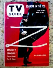 TV Guide 1958 Zorro Guy Williams Shirley Temple James Arness #265 EX COA