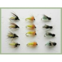 Nymph Trout Flies, 12 Pack, La Fontaine, Caddis Pupa, Amber, Mixed 12/14