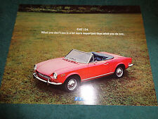 1970 / 1971 FIAT 124 & SPIDER SALES BROCHURE / ORIGINAL DEALERSHIP CATALOG