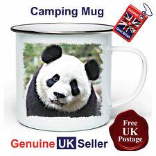 Panda Camping Mug, Hiking Mug, Fishing Mug, Outdoor Mug, Tin Mug, Panda Mug