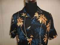 vintage Tu MAN Hawaii Hemd hawaiihemd Baumwolle-Viskose shirt gemustert surf XL