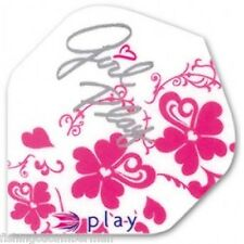 TARGET GIRL PLAY PINK EXTRA STRONG DART FLIGHTS