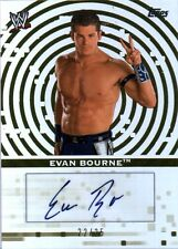 WWE Evan Bourne 2010 Topps GOLD Authentic Autograph Card SN 22 of 25