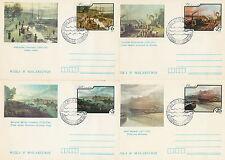 Poland postmark WARSZAWA - Vistula in the painting (analogous- set)
