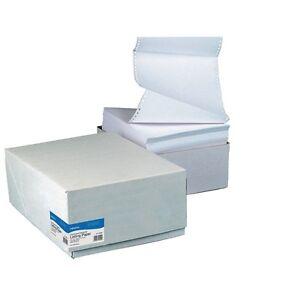 11 x 14.5  (368 ) Listing Paper 1-Part Plain  60g Microperfed Box 2000