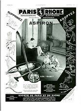 """Publicité Ancienne """" Aspirateurs """"  Aspiron les """"  Baby """"  1939 """" ( P.3 ) Wallac"""