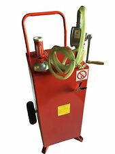 PRO 30 GALLON GAS FUEL DIESEL CADDY TRANSFER TANK CONTAINER W/ROTARY PUMP AUTO