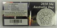 2010 50c AUSTRALIA DAY Coin in Flip