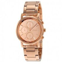 NEW DKNY LEXINGTON ROSE GOLD,S/STEEL,CHRONO,MIRROR DIAL BRACELET WATCH-NY8862