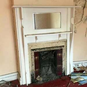 Cast iron Fireplace Insert With Timber Mantle Surround