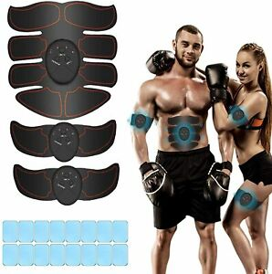 Muskelstimulator, EMS Trainingsgerät, Bauchmuskeltrainer mit 16PCS Gel Pads