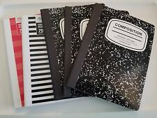 COMPOSITION NOTE BOOKS LOT OF 5 - 470 SHEETS - College &  Wide RULED 940 PAGES