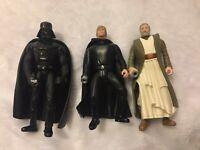 1997 STAR WARS POTF Electronic POWER F/X Darth Vader/Obi-Wan/Luke Skywalker 3PK!
