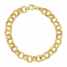 Eternity Gold Triple Rolo Link Chain Bracelet in 14K Gold