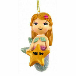 Mermaid Personalised Decoration by Suki Gifts