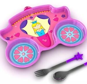 Princess Divided Plate With Fork/spoon