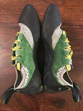 "Evolv ""Eco-Trax� Green Yellow Rock Climbing Shoes 7.5"