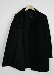 J.LINDEBERG Men's (IT) 50 or ~MEDIUM Black Wool Blend Coat 36049-GS