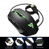 Ergonomic Gaming Mouse Wired 4 Adjustable DPI Breathing Light Skin Friendly Mice
