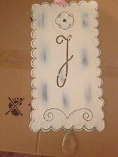 """Pottery Barn Kids ~ New ~ Ribbon Tin Letter """"J"""""""