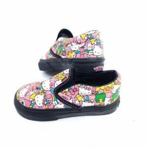 Hello Kitty VANS Toddler Size 6 Girls Loafer Shoes Pink White Slip On Skater