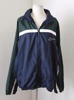 Vtg 90s Reebok Blue Green Color Block Windbreaker Track Jacket Size L Rave