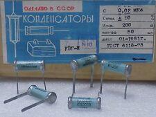 5x KBG-I --( 0.02uF 10%, 200V )-- Ceramic PIO Capacitors КБГ-И NOS Made in USSR