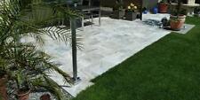 Terrassenplatten Steinplatten Gehwegplatten Gartensteine Natur Travertin Silber