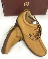 Born Shoes Womens Comfort Flats Spring Tan Suede Leather Lace Up Sahara US 7