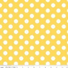 Medium Dots Fabric by Riley Blake Designs ,100% cotton, C360-50 Yellow, BTY