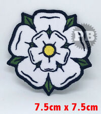 White Rose Yorkshire embroidered iron on sew on patch