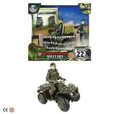 World Peacekeepers Miltary Patrol Vehicle Army Quad Bike Toy 2 Figures 3 Yrs