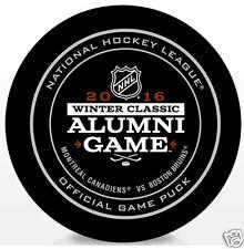 2016 WINTER CLASSIC ALUMNI GAME OFFICIAL HOCKEY PUCK  Montreal vs Boston Bruins
