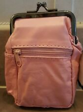 Pink Eclipse Leather Cigarette 2 Zippers/Coin Purse Up To 100's