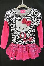Sanrio HELLO KITTY Girls PINK LEOPARD PRINT Tutu Dress-Size long sleeve Size S