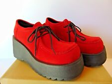City Snappers Vintage Platform Retro 1980's Shoes Red Choose Your Size