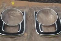 NOS FORD CORTINA MK2 LOTUS GT SUPER DELUXE HEADLIGHT SURROUNDS CONCOURS