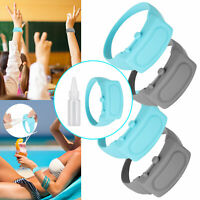 1/3x Portable Rubber Soap Bracelet Wristband Hand Dispenser Band Squeeze Bottles