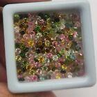 Natural Tourmaline Round Diamond Cut Loose Gemstone Lot 100 Pcs 2 MM