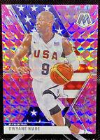 Dwyane Wade 2019-20 Mosaic Pink Camo Prizm USA Basketball Card #259 Miami Heat