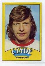 (Gr358-416) A. & B.C. Gum, Footballers, Scottish, #27 Jimmy Burns CLYDE 1974 VG