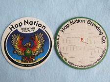 Beer Brewery Coaster: HOP NATION Brewing Co ~ Yakima, WASHINGTON Hop Bird Eagle