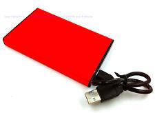 "Red 160 GB External Portable 2.5"" USB 2.0 Hard Drive HDD Pocket Size"