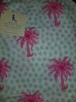 New Pottery Barn Kids PALM TREES Crib SHEET girl Hawaiian beach pink Toddler bed