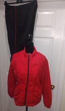 Kim Rogers Petite  Red & Black Warm Up Suit Size PL