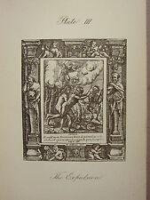 1887 HOLBEIN DANCE WITH DEATH PRINT ~ THE EXPULSION ~ ADAM & EVE GARDEN OF EDEN