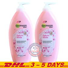 2 x 400ml : Garnier Body Sakura White Pinkish Radiance Serum Milk UV Lotion